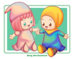AT : Cute Dolls by tieq