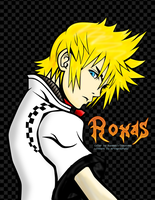 Roxas Lineart in Colour by RanmaGirlSaotome