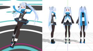 MMD Another Random LAT Miku by Xenosnake