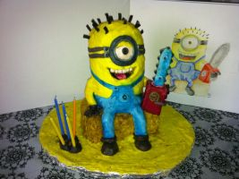 Despicable Me, Minion Cake by serseus