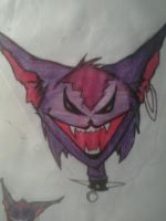 evil cat by Bl0ndage