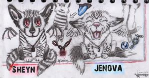 Reference Sheet - Sheyn and Jenova by Equive