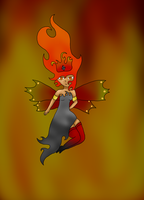 Pyrous Fire Sprite by Almost-Toxic