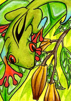 ACEO- Cananga-Odorata by FoxInShadow