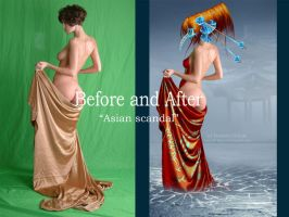 Before and after-Asian scandal by Teodora-Chinde