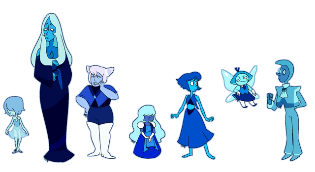 Blue Gems by MeowTownPolice