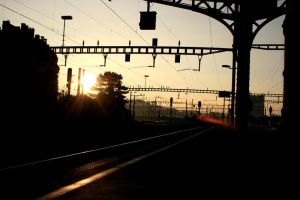 Renens gare by Lucie-Vernier