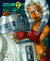 Ahsoka and R2D2 by Fenril-Huayra