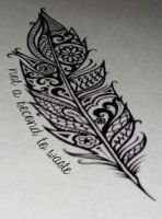 Not A Second To Waste Tattoo by silent-sarah05