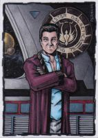 Dr Gaius Baltar Sketch Card by tonyperna