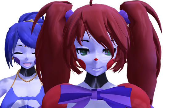 Baby and Ballora (updated Models test :3 ) by zombienateisback