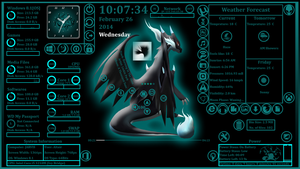Mega Charizard for rainmeter by mraju94