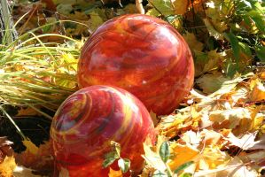 chrystal balls in autumn colours by ingeline-art