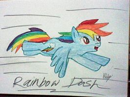 Rainbow Dash Flying by HibbaAkiza