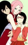 Papa, Mama, and Sarada - The Uchiha Family by I-am-M-i-A