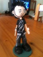 Punk guy foam rubber figure by anapeig