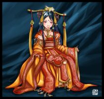 ancient chinese woman by Artkeyhoon