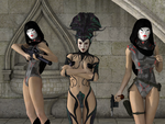 Amidala the Wicked and her Handmaidens by bigcurf