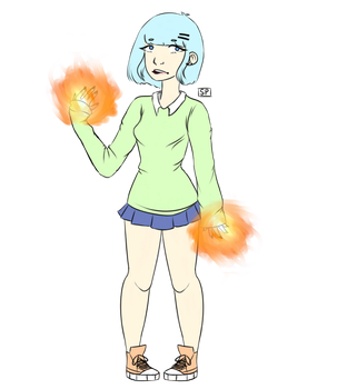 PYROMANCER BABE by starplanting