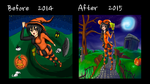 Before and After Halloween by GenericAnime
