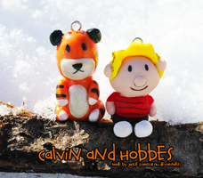Calvin and Hobbes Clay Charms by Comsical
