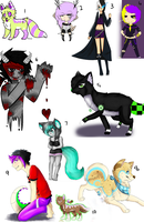 MIXED ADOPTS OPEN !! MONEY/POINTS ! by Neon-Panties