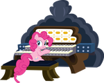 Pinkie playing the organ by sakatagintoki117