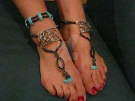 Barefoot Sandle / Anklet  #2 by SoulSerppent