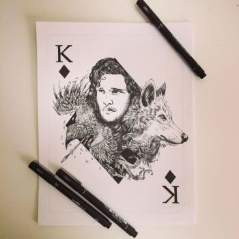 King Of Diamonds - Jon Snow by Pentasticarts by 12epitaph