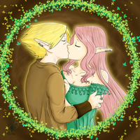 Airina+Zyth Kiss by Relatos-del-bardo