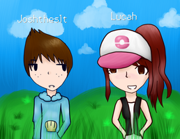 Lucah and Joshtheslt by Anime-Gamer-Girl