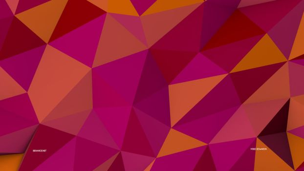 Low Poly Wallpaper 8K Pink by Mike-Edwards