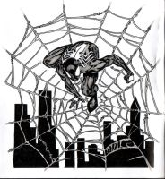 Spider-Man on his tangled web by SpiderGuile
