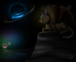 Space Gazing. by SparrowsNskittlez