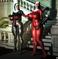 Latex Nuns by XSkullheadX