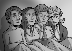 Science Ladies Sleepover by Super-Cute