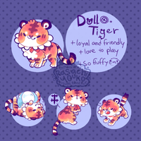 Doll tiger auction CLOSE by Kit-katsu