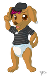 Padded doxie by Lincub
