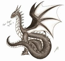 Gift: Black Dragon by Tolina