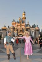 Rapunzel and Flynn at Disneyla by aimeekitty