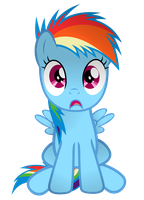 Shocked filly rainbow dash. by Coltsteelstallion