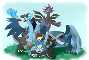 Julius Sparks Pokemon Team by teammagix