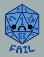 Fail D20 by brandimillerart