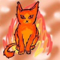 fire kitty doodle by ShelterLight