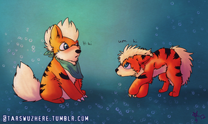 Vaan and Starsie Growlithe by YooMe