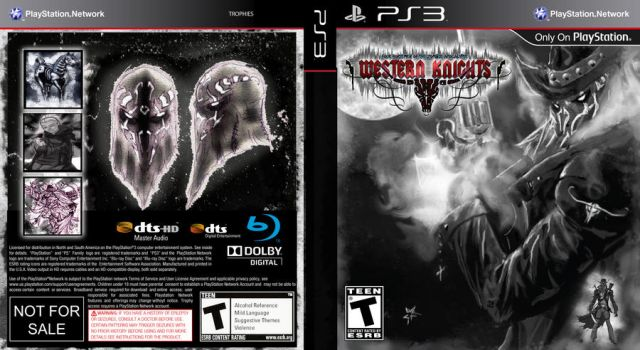 Mock up PS3 Game Western knights by whiteknight222