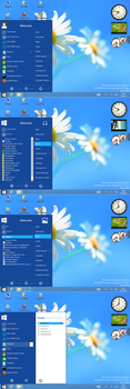 Windows8 blue start by PeterRollar