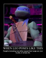 TMNT Poster-Leo's Pose by TMNTFanchick