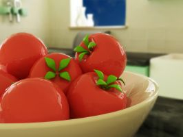 Plastic Tomatos by the-crimson-shoe