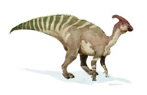 Parasaurolophus by SBWomack